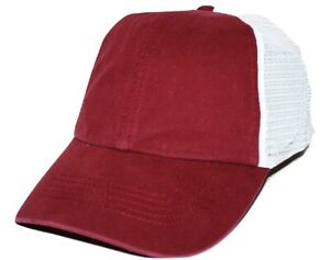 2655b830 Nike Bauer Blank Adjustable Relaxed Fit Mesh back Burgundy Hockey ...