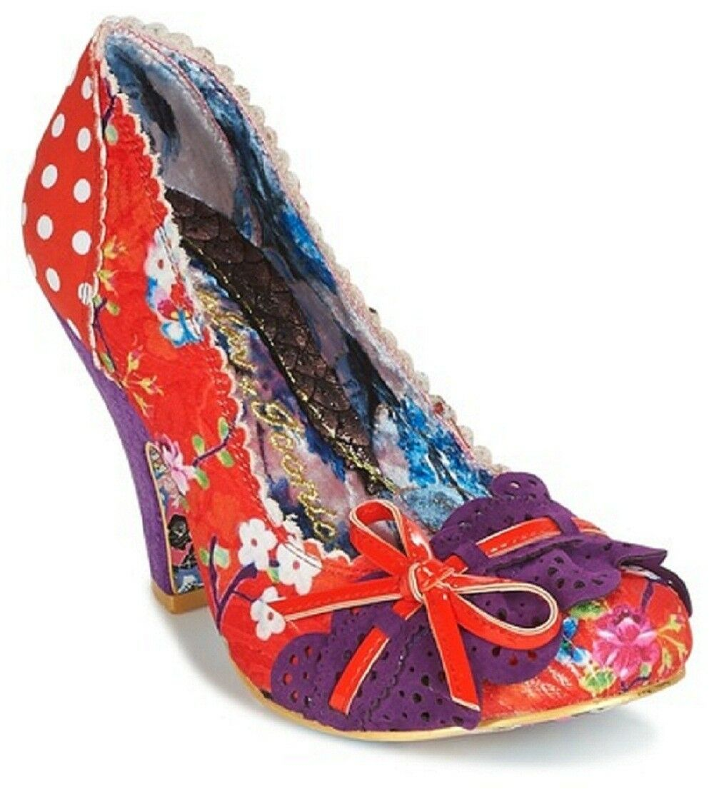 IRREGULAR CHOICE MAKE MY DAY RED MULTI