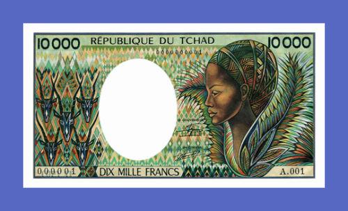 Reproductions 10000 francs 1984s Republique du TCHAD