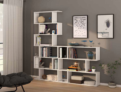 Ciara White 3 6 Tier Bookcase Room Divider Display Shelf Unit Living Room Set Ebay