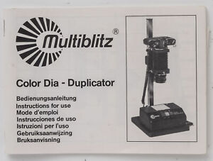 Manuale-d-039-uso-Multiblitz-color-Dia-Duplicator-instruction