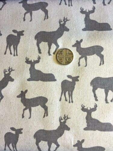 New 2017 Christmas FQ STAGS Scandinavia Fabric Material 100 /% Cotton Jon Louden