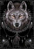 Wolf Flag/ Tapestry/ Fabric Poster Spiral Collection wolf Dreams