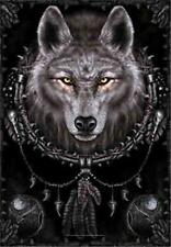 """Wolf Flag/ Tapestry/ Fabric Poster Spiral Collection """"Wolf Dreams""""    NEW"""