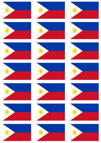 Philippines Flag Stickers rectangular 21 or 65 per sheet
