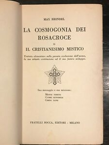 Cosmogonia dei Rosacroce, Max Hendel - Libreria Esoterica