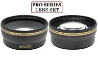 58mm Pro Series Wide Angle And 2.2x Telephoto Lens For Photo Camera & Camcorder