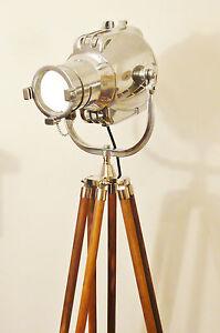 VINTAGE-MOVIE-THEATRE-LIGHT-ANTIQUE-FLOOR-LAMP-EAMES-STARCK-STRAND-JIELDE-SILVER