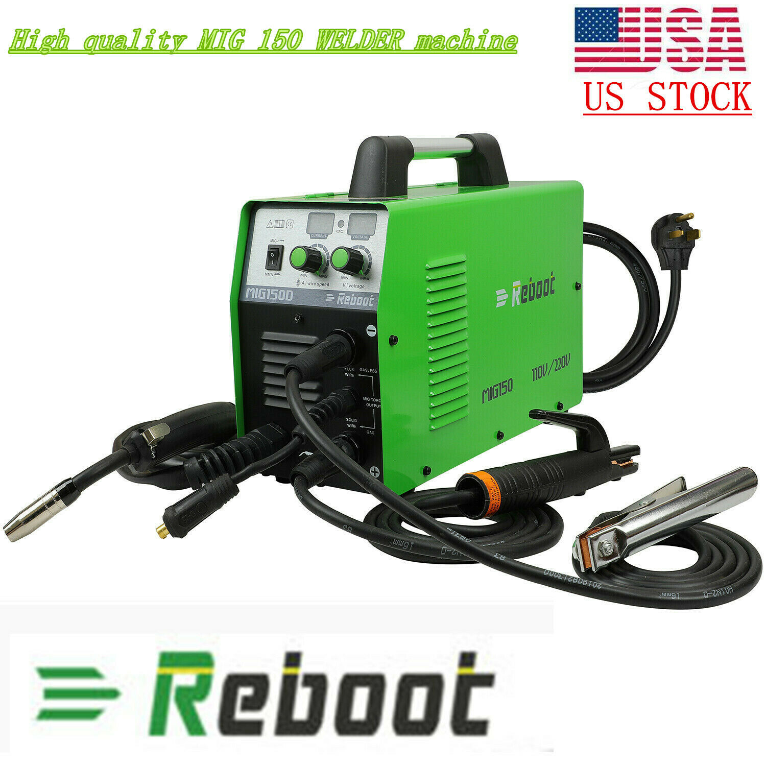 MIG Welder 150 Gas/Gasless 110/220V ARC Stick MMA IGBT Inverter 3 IN 1 Dual volt. Buy it now for 245.99