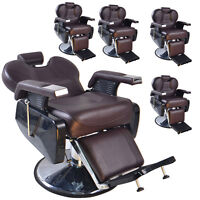 Brown Hydraulic Recline Barber Chair Salon Shampoo Beauty Spa Equipment Us