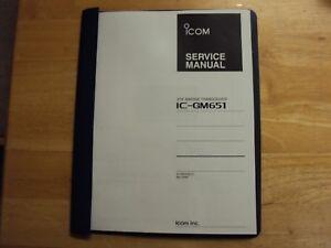 icom ic gm651 gmdss vhf radio service manual copy ebay rh ebay com Icom Ham Radio Manuals Icom Manuals PDF