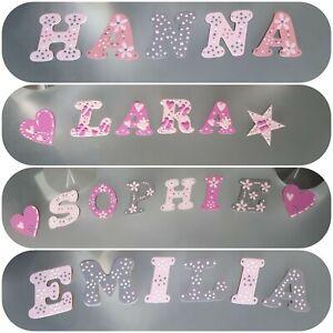 Details zu Buchstaben Kinder Baby Name Holzbuchstaben Tür Deko Türschild  Kinderzimmer 49