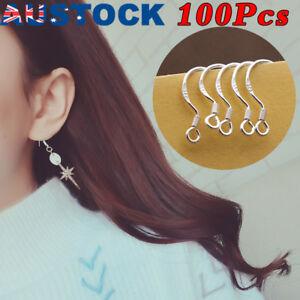 925-Sterling-Silver-Earring-Hooks-Wire-100pcs-Hypoallergenic-Ear-Wire-DIY