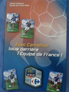 Football-Coffret-collection-034-Carrefour-034-avec-magnets-Equipe-de-France-2010
