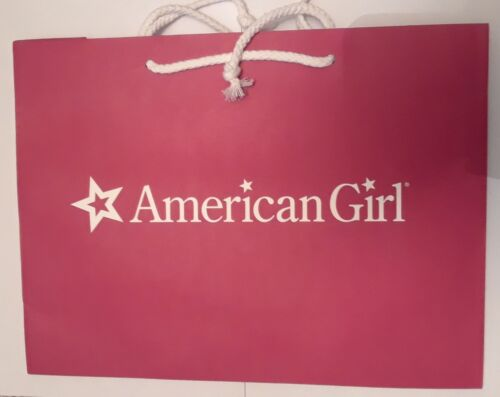 American Girl Authentic Small Paper Red Gift Bag with White Rope Handles