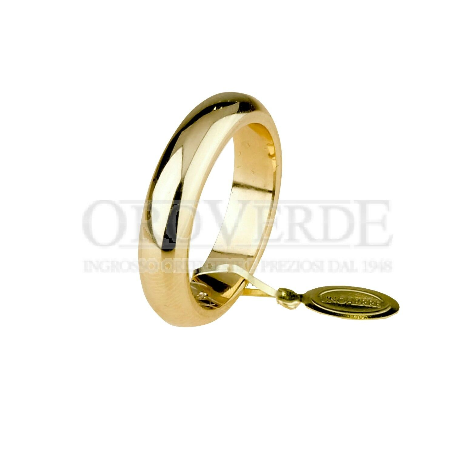 Fede classica Unoaerre gr.6 larg.mm.4 in in in oro giallo 750% 18kt 60AFN1G dfb8c8
