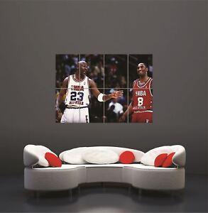 Kobe Bryant Michael Jordan Giant Wall Art Print Poster Picture