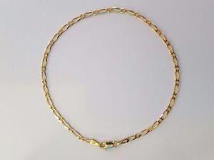 NEW-Solid-9ct-9k-Yellow-Gold-Bevelled-Figaro-1-1-Diamond-Cut-Ladies-Bracelet