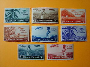 ITALIA-REGNO-1936-SOMALIA-SERIE-COMPLETA-P-A-N-A17-A26-NUOVA-MNH-CAT-300