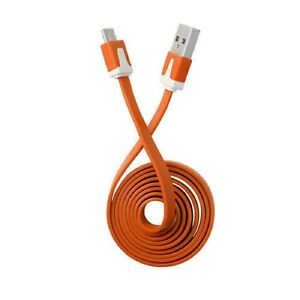 Orange-Flat-Noodle-Micro-USB-Sync-Charger-Cable-For-HTC-Desire-One-A9s-A9-One-M9