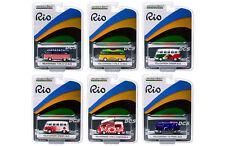 GREENLIGHT RIO 2016  VOLKSWAGEN 1/64 VAN & BUS ASSORTMENT SET OF 6  DIECAST CAR