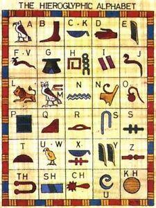 Grille-point-de-croix-EGYPTE-HIEROGLYPHES