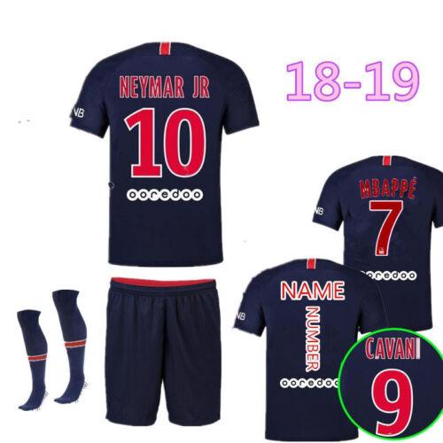 18//19 Football Soccer Jerseys kits Short Sleeve Outfits+Socks 2-13Y Boys Kids