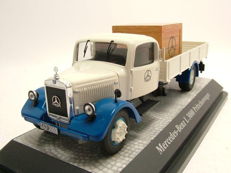 PRX12650 - Camion porteur plateau MERCEDES BENZ L3000 édité à 500 unités - 1 43