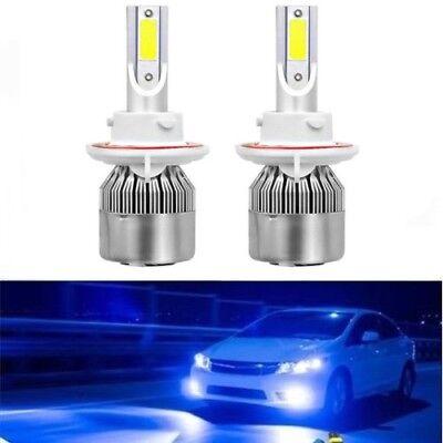 NEW H13 9008 8000K Ice Blue 7600LM COB LED Headlight Bulbs Kit High /& Low Beam