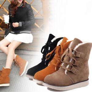 Mujer-Botas-De-Invierno-Bowknot-Botines-botas-de-nieve-Piel-Sintetica-Zapatos