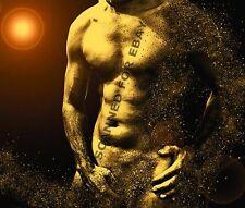 Digital Art semi-nude picture man torso photo gay beefcake sexy male print A