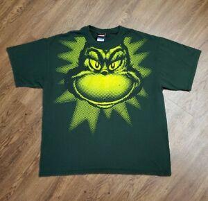 Y2K-Vintage-2001-Classic-Dr-Seuss-Mr-Grinch-XL-Lime-Green-T-shirt