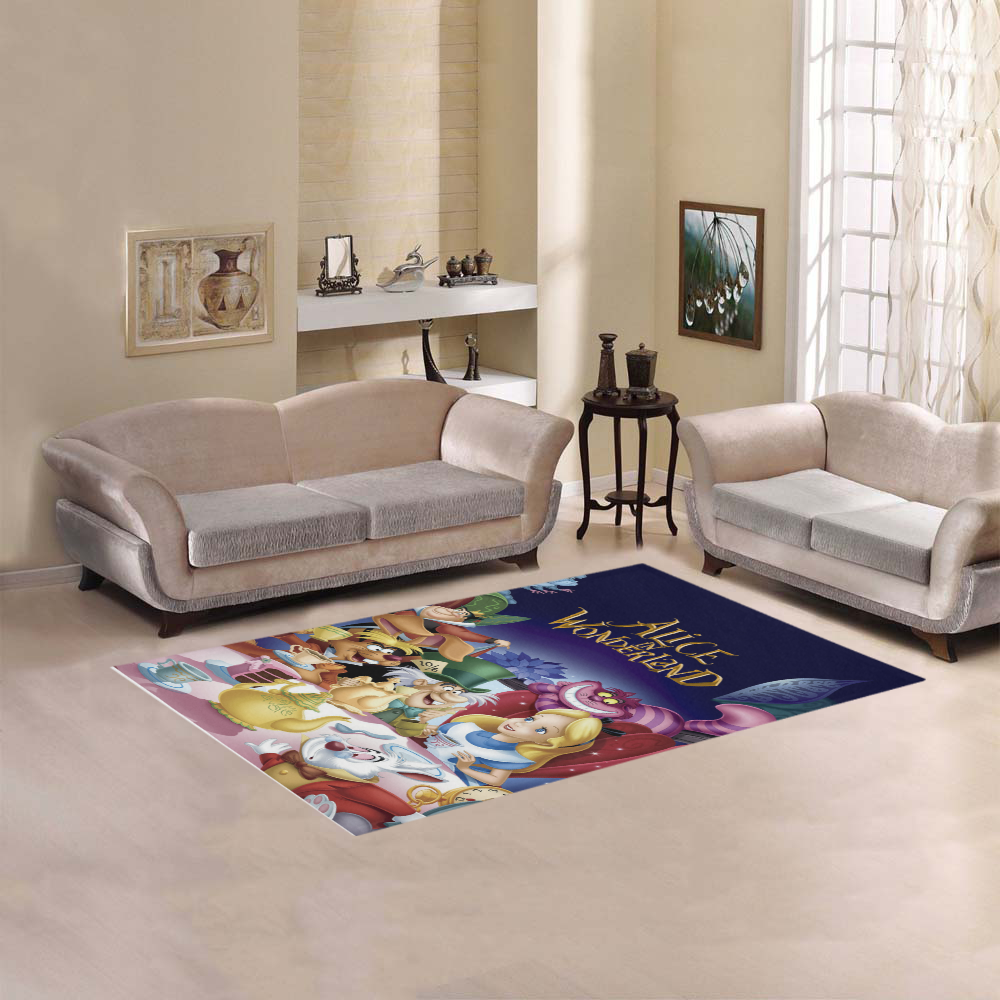 SWEET HOME moderno collezione Personalizzate Alice nel paese delle meraviglie area coperta 7' x 5'