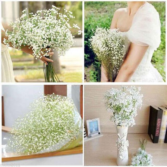 1 Head Romantic Baby's Breath Gypsophila Silk Flower Wedding  Party Home Décor