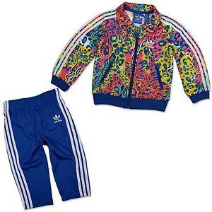 Adidas-Original-FIREBIRD-bebe-nina-tiempo-libre-traje-traje-jirafa-LEOPARDO-62