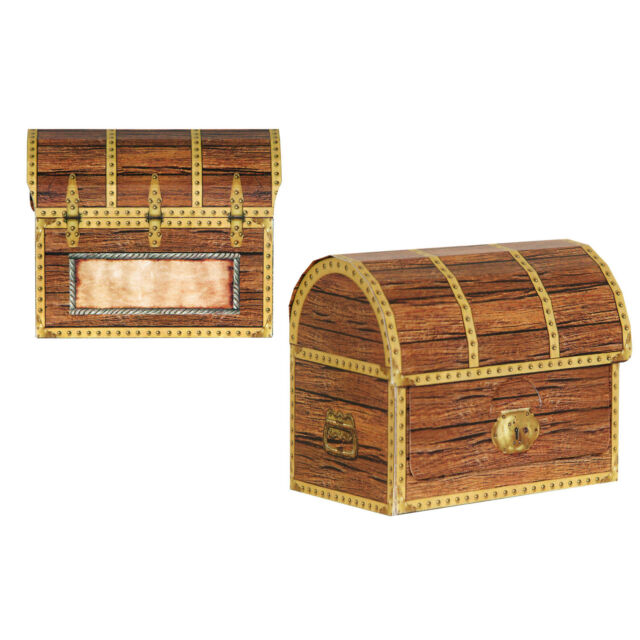 Pack Of 4 Treasure Chest Bo Pirate Party Decoration Table Decorations
