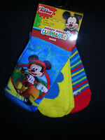 mickey Mouse Clubhouse Boys 3 Prs. Socks Fits Sizes 2t- 4t...nwt 3b