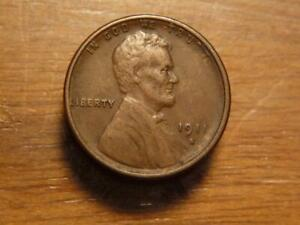 1911-S Lincoln Cent Uncertified VF