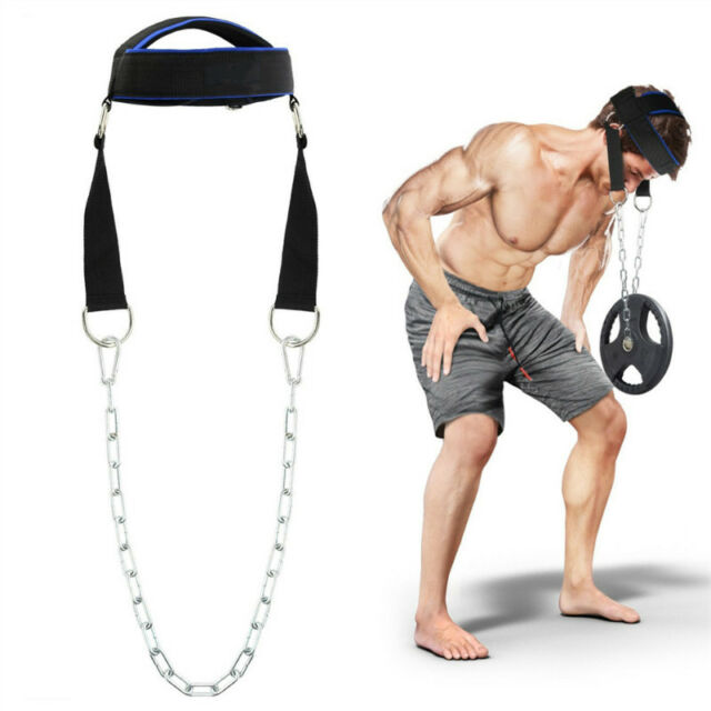 Gym Weight Lifting Head Neck Harness Straps Fitness Strength ...