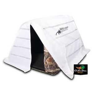 RIG-039-EM-RIGHT-WATERFOWL-FIELD-BULLY-DOG-BLIND-SNOW-COVER-CAMO-POP-UP-COLLAPSIBLE