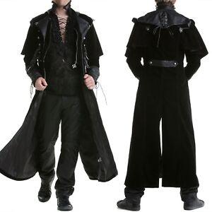 365de4a38dddc9 Long Coat Regency Jacket Mens Steampunk Ebay Vtg Gothic Highwayman OnBqYa