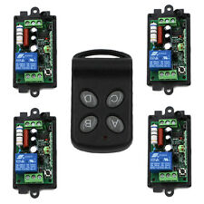 AC 1CH RF Wireless Remote Control Switch System 4CH Transmitter+4X Receiver 220v