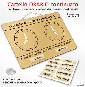 Cartello-ORARIO-continuato-regolabile-apertura-negozio-ORO