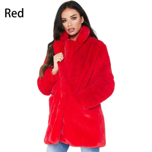1PC Artificial Suede Fur Collar Casual Long Sleeve Ladies Girls Coat Jackets New