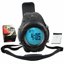 Fitness Pulse Heart Rate Monitor Watch & Chest Strap Pedometer Calorie Counter
