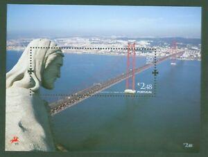 Portugal-2009-Cristo-Rei-Statue-Tejo-Bruecke-Lissabon-Block-282-postfrisch