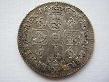 1663 Charles II silver Shilling, F/GF. ACS