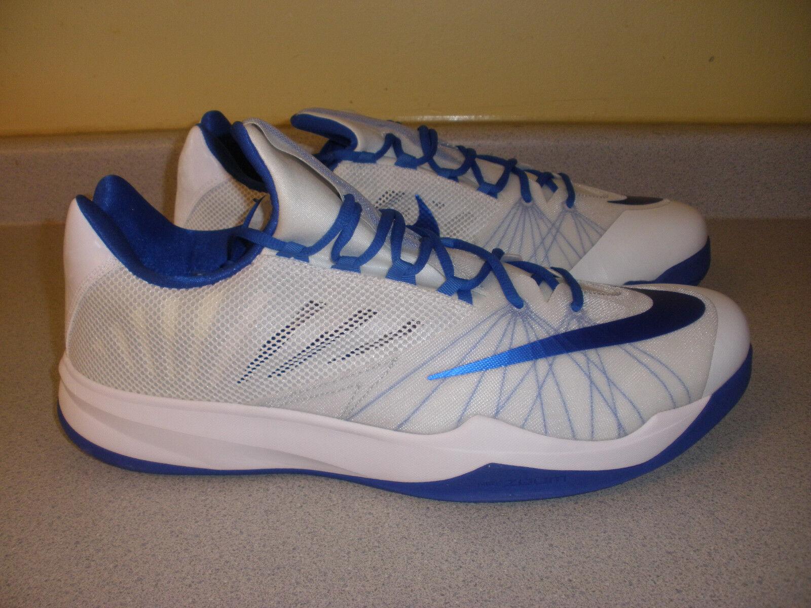 685779-140 NIKE Blue Zoom Run The One TB Basketball Shoes Blue NIKE White Size 18 407d3b