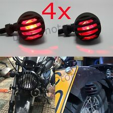 BLACK GRILL BULLET MOTORCYCLE LED TURN SIGNAL INDICATOR LIGHT LAMP FOR HARLEY