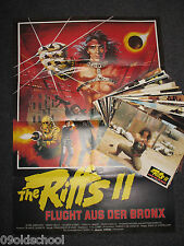 RIFFS II 22 Fotos + Plakat Gregory Henry Silva Bronx Warriors Enzo G. Castellari